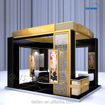 Portable Exhibition Booths : 6x6 m economy modular exhibition fair booth trade portable