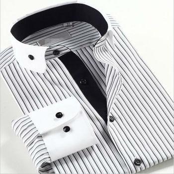 30348eccd77a Men's Formal Black And White Striped Shirt Man Shirt Factory - Buy ...