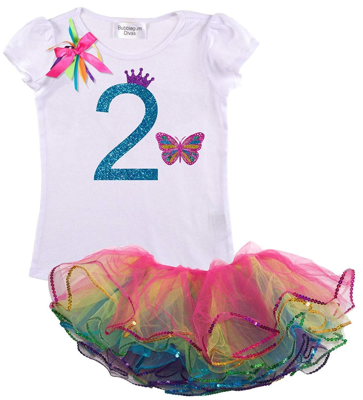 Cheap Princess Tutu Outfit Find Deals On Line Dress Baby Flower Pink 0 2th Get Quotations Bubblegum Divas Little Girls 2nd Birthday Rainbow Butterfly
