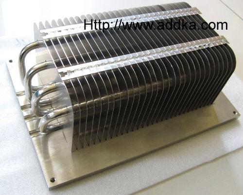 Stamping Fins Soldered Heat Pipe Heat Sink