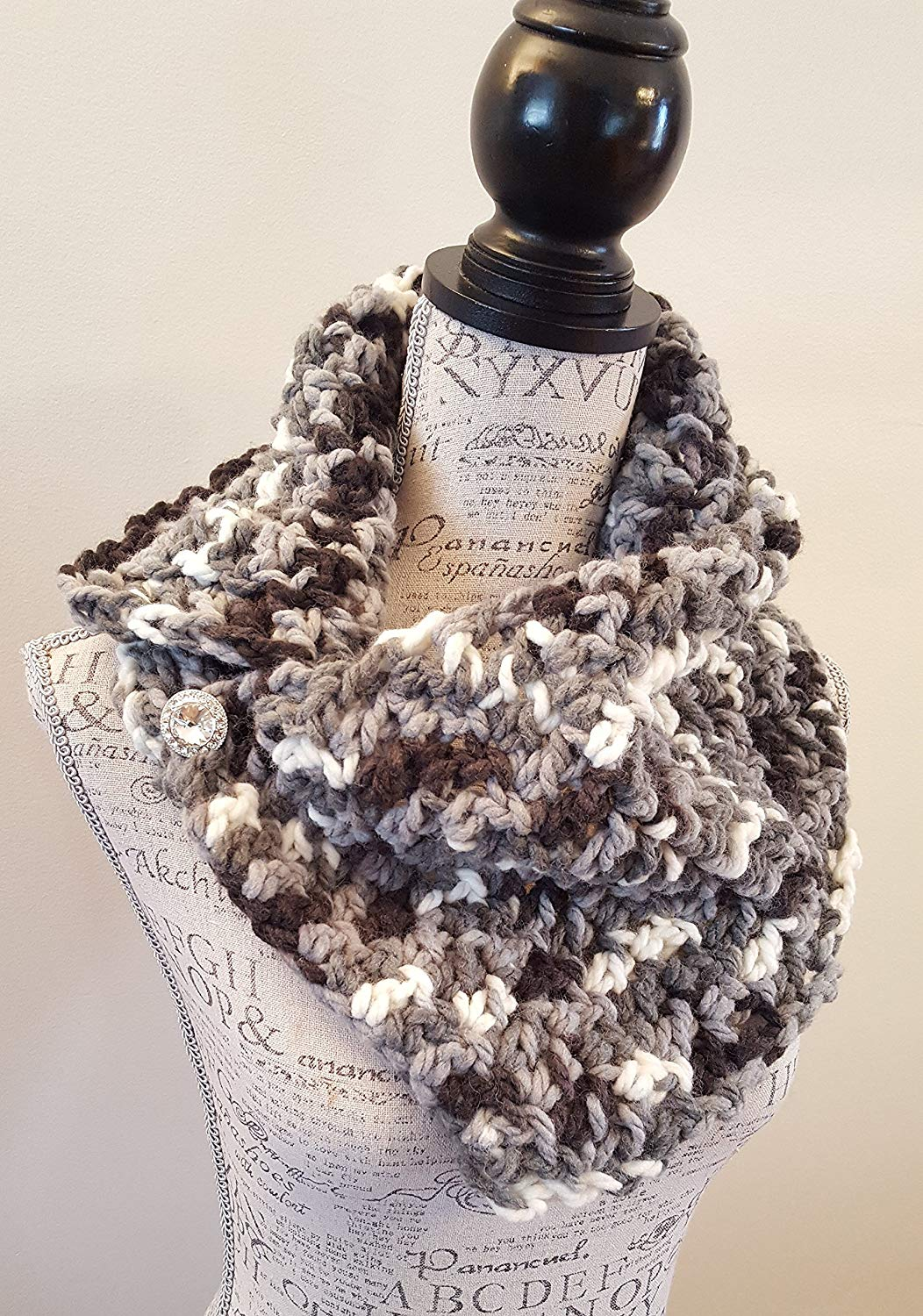 9ae7a05e0 Get Quotations · Crochet Wool blend Scarf. Infinity Scarf. Infinity Cowl.  Cowl. Scarf. Chunky