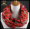 Wholesale price bulk order printing your logo animal print voile infinity scarf
