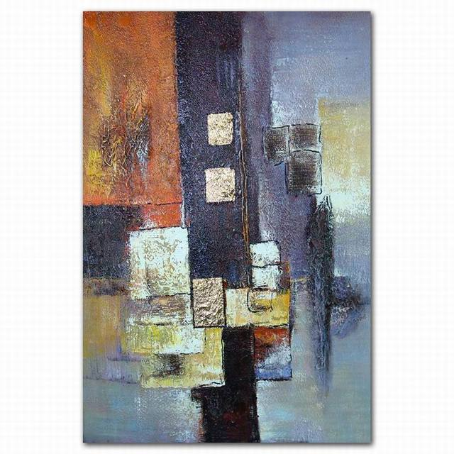 Modern Oriental Wall Art Group Abstract Oil Paintin Canvas Painting On  Fabric