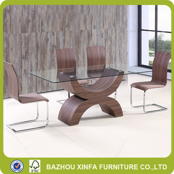 High Quality Gl Top Mdf Wood Dining Table Made In Malaysia