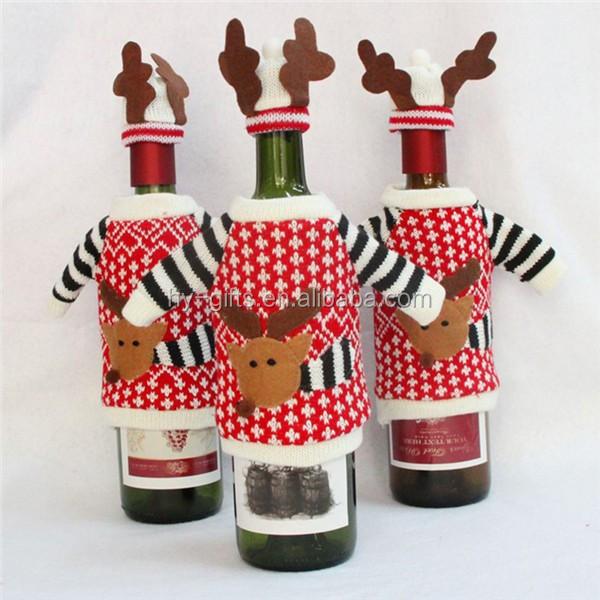 Hot koop kerst wijn decoratie cover nieuwjaar fles cover for Decoratie fles
