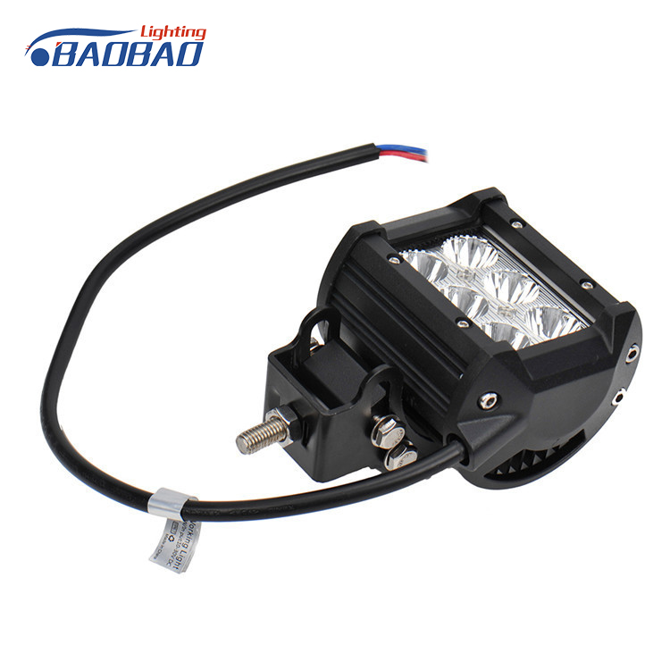 High quality 10-30V 4.3 inch flood work lamp 18w led work lights for trucks with CE,ROHS, IP68