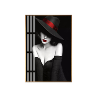 hottie figure painting wall art pictures for hotels wall hanging glass painting