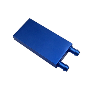 40*80 blue Aluminum water cooling block liquid cooler heatsink for CPU GPU semiconductor.