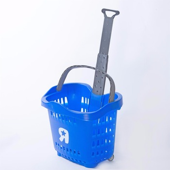 Rolling Shopping Basket with Two Casters