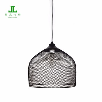 high quality black linear mesh round shade pendant lamp vintage