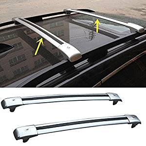 2pcs Blk Steel Roof Rack Cross Bar Luggage Carrier Rail For 11-15 Grand Cherokee