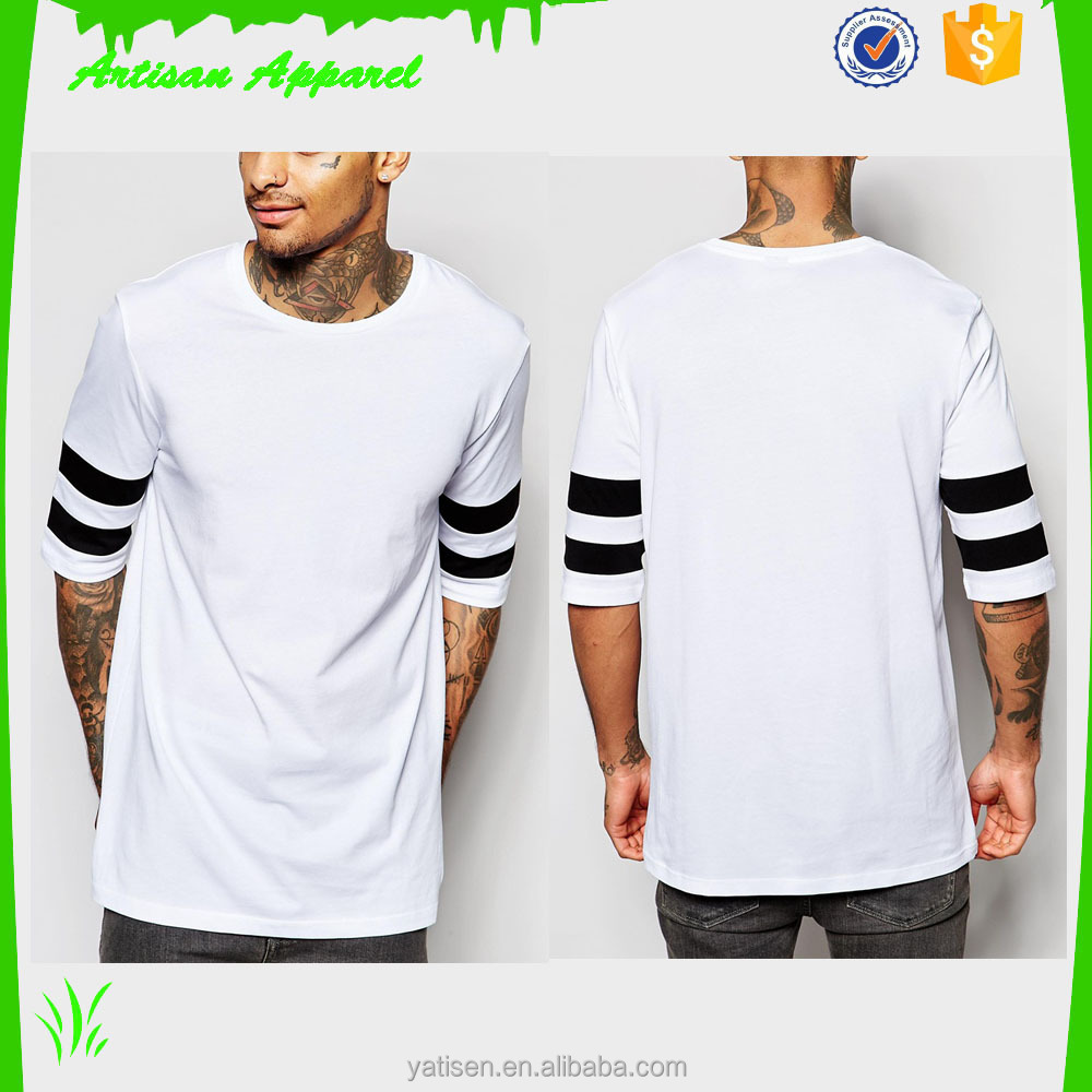 Men's plain t shirts can be customized slim t shirts for man wholesale 2016 new designs
