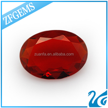 OR6 or dark red 9*11mm oval cut transparent loose crystal stone