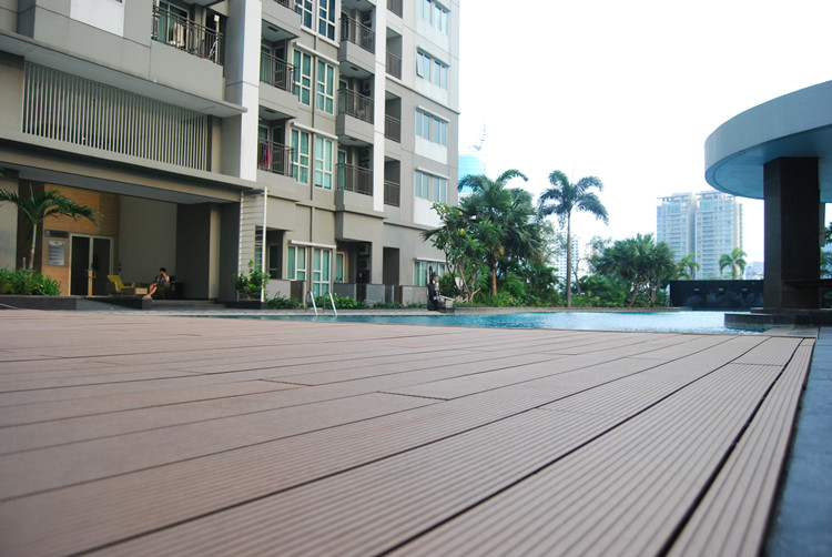 Dark Grey Decking Board Outdoor Floor Wood Plastic Composite