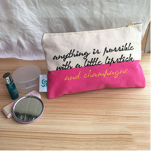 Bulk cosmetic bags cheap wholesale canvas makeup bags