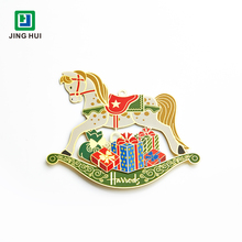 Wholesale High quality Custom Etching Metal crafts Make it Christmas Ornaments