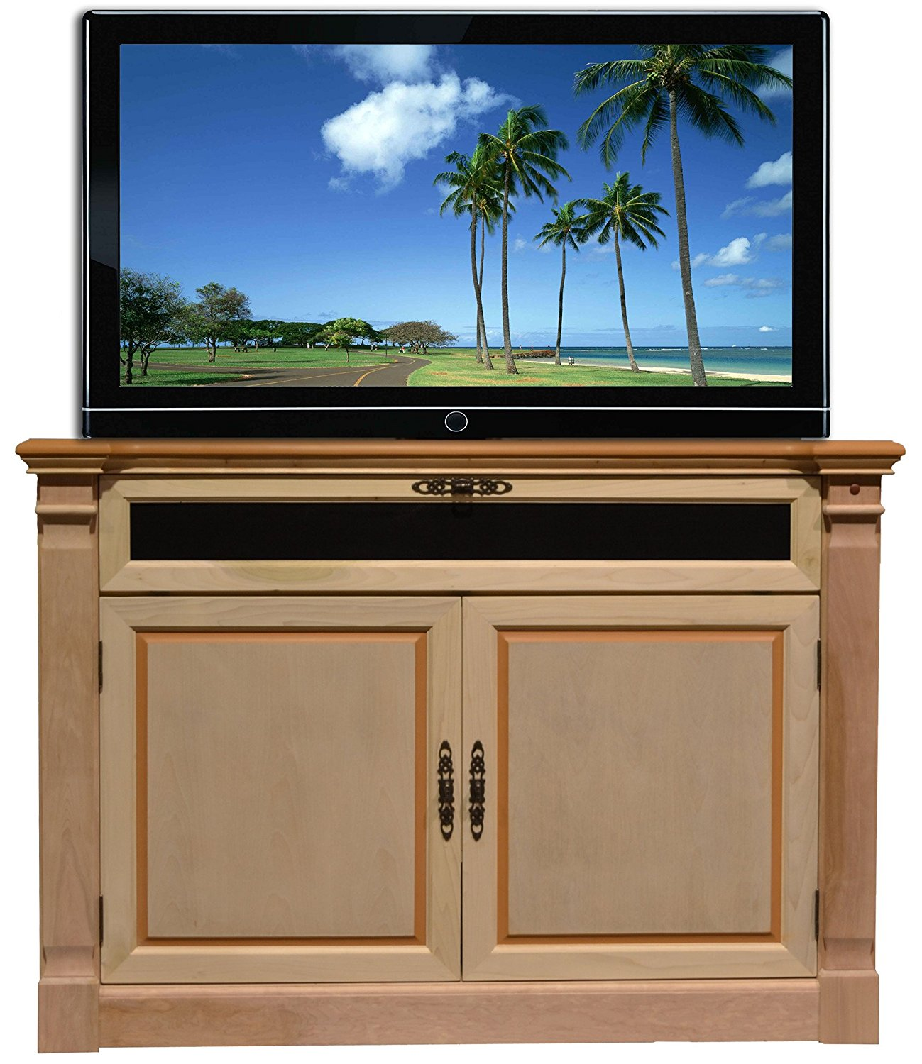 Touchstone 70152 Adonzo TV Lift Cabinet For TVs Up To 60 inches, Component And Sound Bar Storage, Whisper Lift (Unfinished)