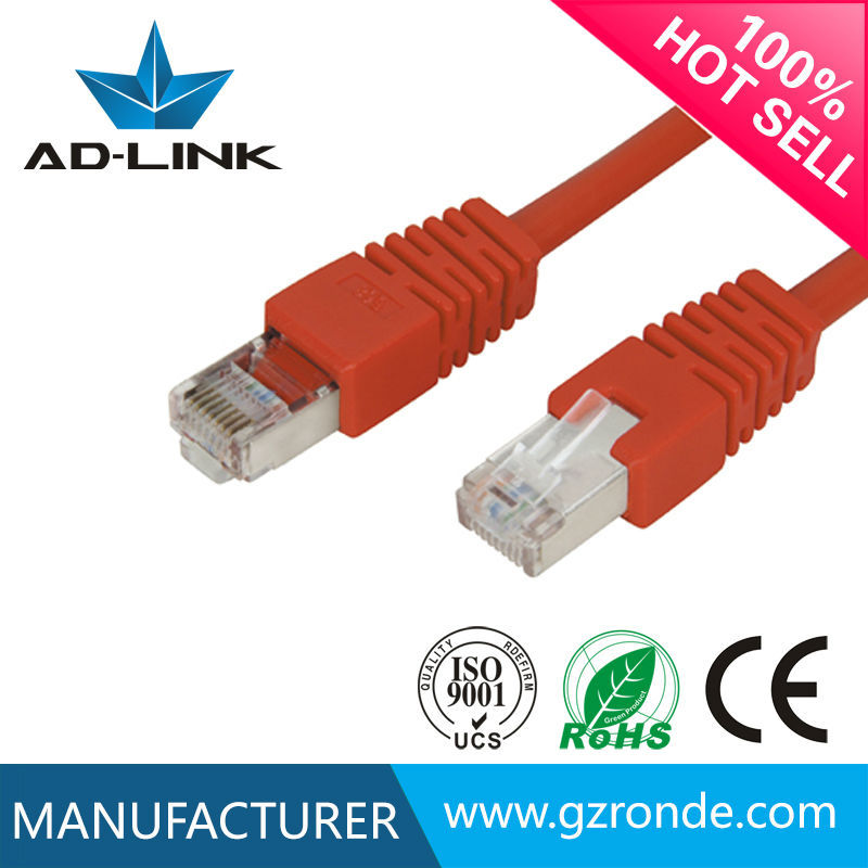 High performance 23AWG pure copper cat6a sftp patch cord