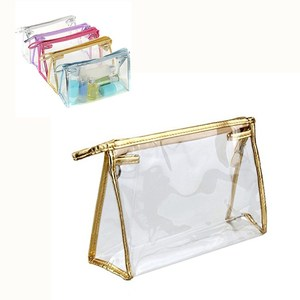 Clear Transparent Waterproof Plastic PVC Travel Cosmetic Toiletry Makeup Bag Organizer Pouch Tote Bag