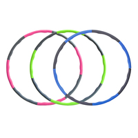 High Quality Remove Detachable Plastic Hula Hoop With Foam