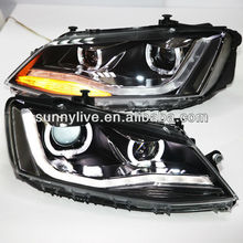 For VW New Jetta MK6 / Sagitar LED Headlight with DRL 2012 year U Type