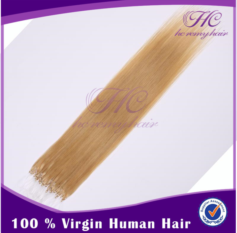 Hot sell new lighting Indian remy micro loop hair