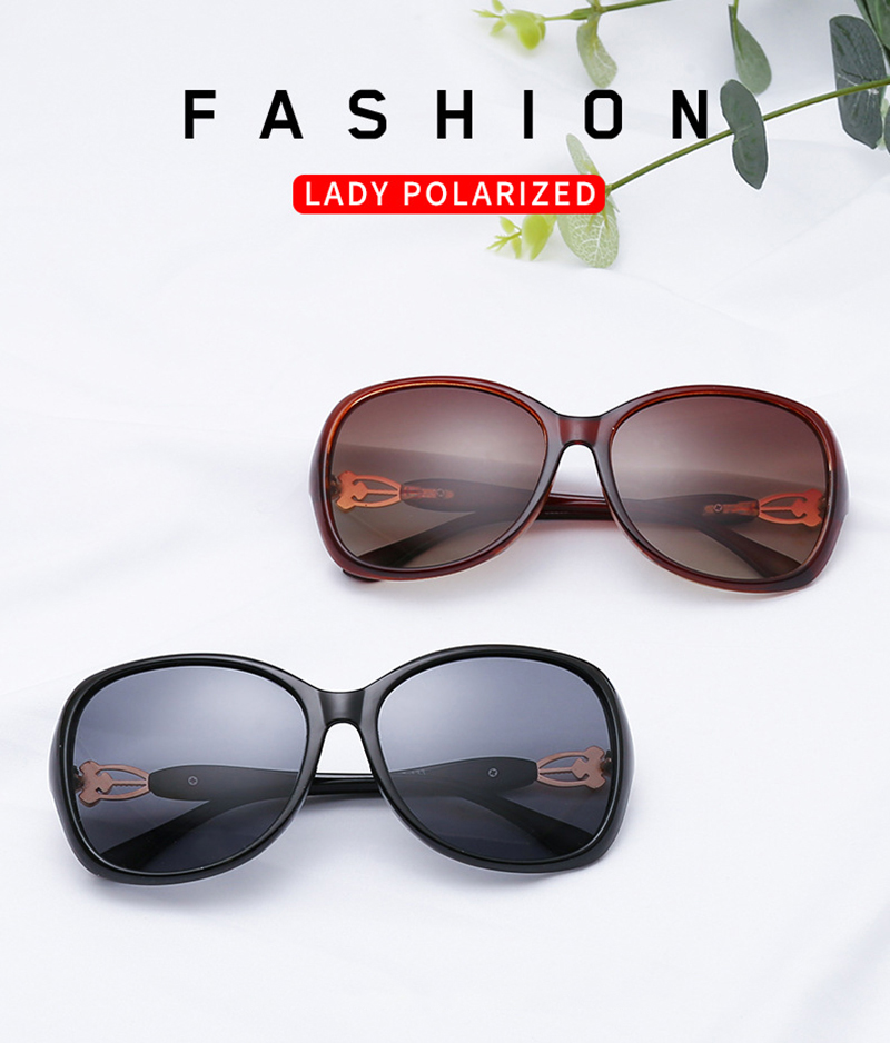 High Quality Four-leaf Clover Diamond Temple Round Frame Designer Women Sunglasses