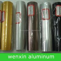 Corrugated aluminum round curtain rod