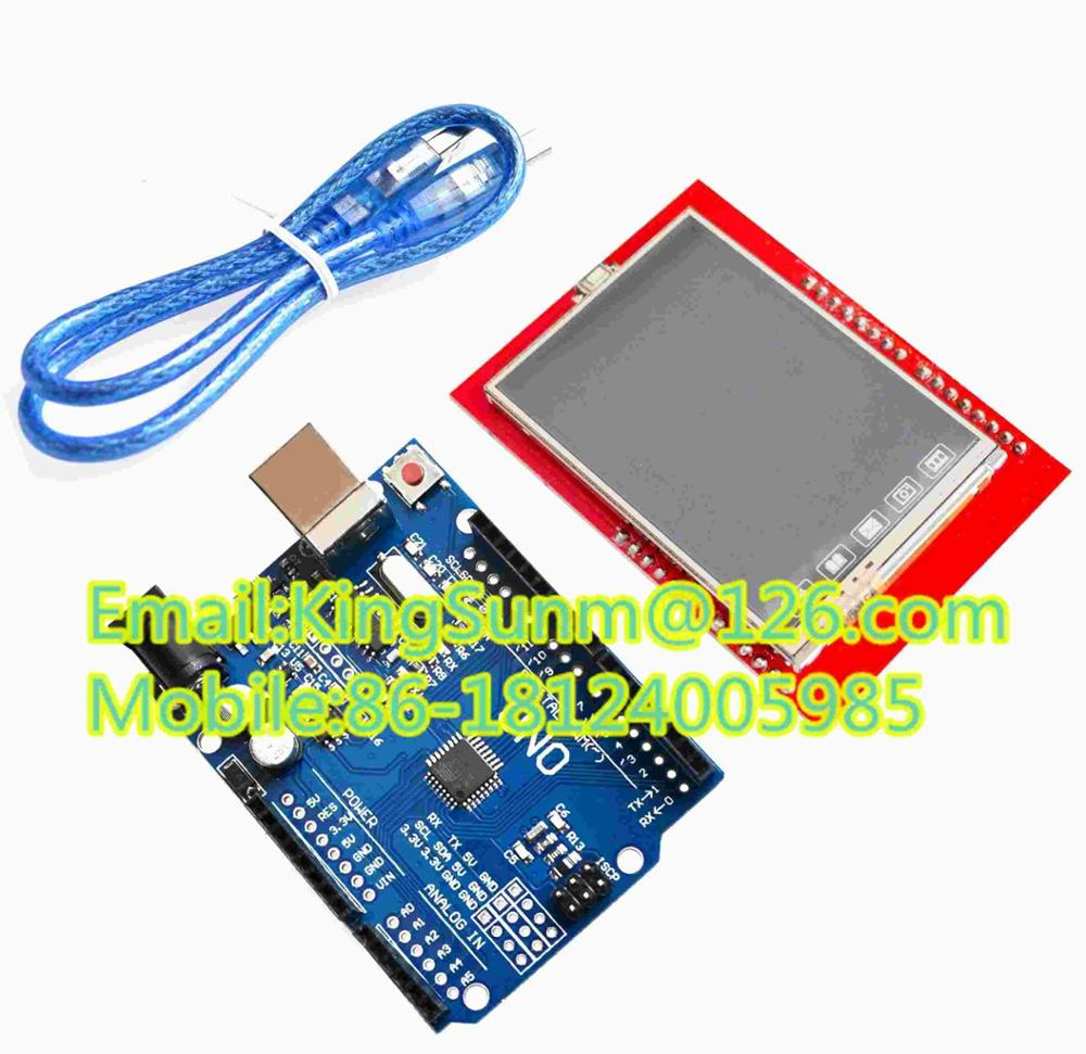 UNO R3 MEGA328P For A +2.4 Inch TFT Touch LCD Screen Module For A UNO