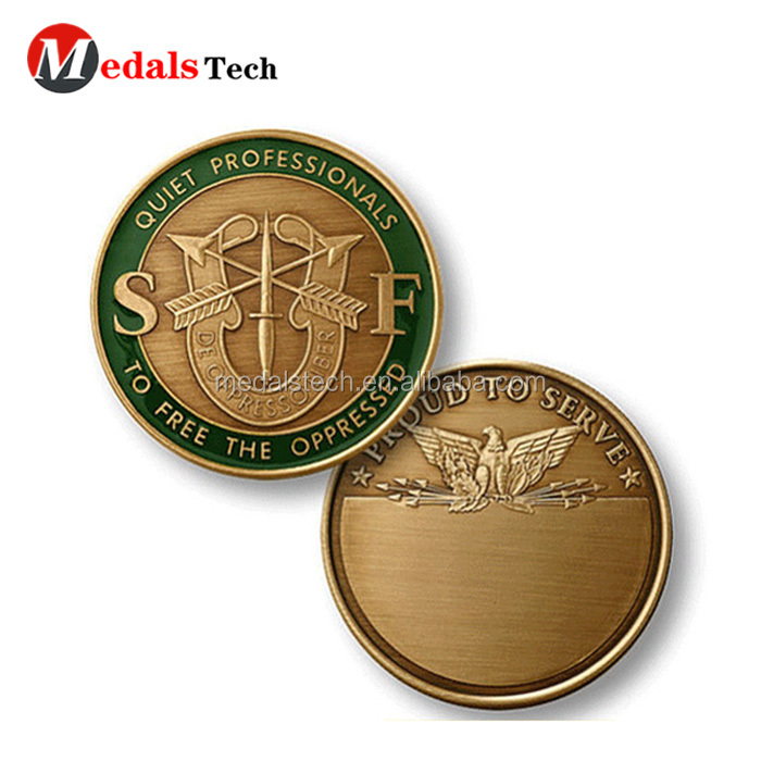 High quality custom south africa gold 3d printing coin for collection