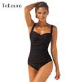 2016 Sexy One Piece Swimsuit Plus Size Swimwear Women Push Up Vintage Monokini Ruffle Bathing Suit