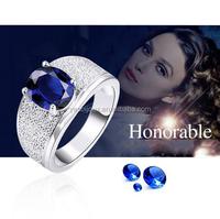 Big Zircon Diamond engagement High Quality 22k Gold Ring