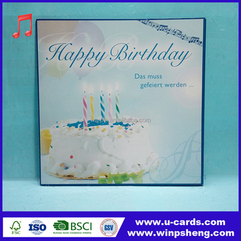 Handmade Music Record Birthday 3d Embellished Greeting Cards