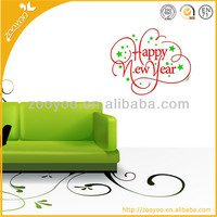 ZooYoo Vinyl Happy New Year Wall Stickers Decoration Of House Interior