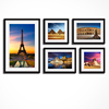 Modern Group Photo Frame Wall/Famous Scenery Canvas Print/City Landscape Canvas Printing