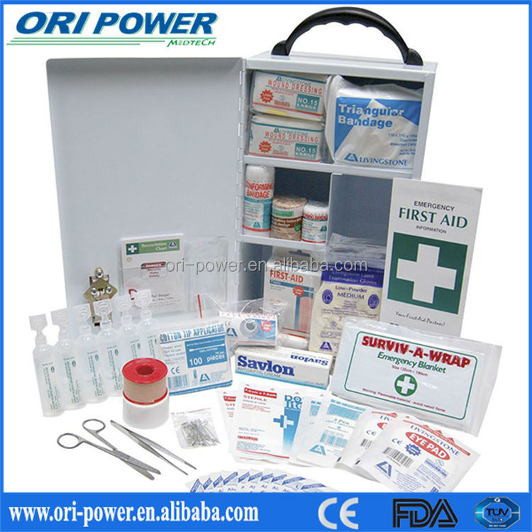 Hot sale ISO FDA CE approved promotional oem wholesale large school workplace factory first aid survive kit