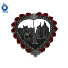 Wholesale Dubai souvenir gifts heart shaped metal enamel fridge magnet
