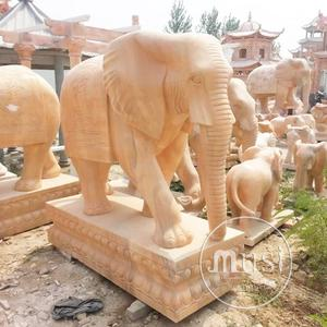 Custom Made Marble Statue garden decoration white marble elephant statue