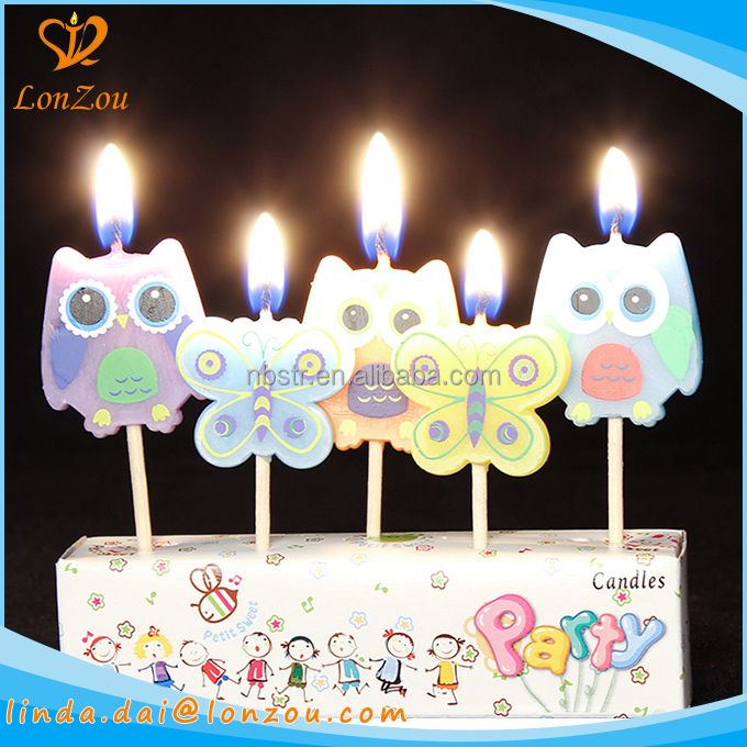 Birthday Candles In Bulk Animal Butterfly Shaped Long Burning Fancy