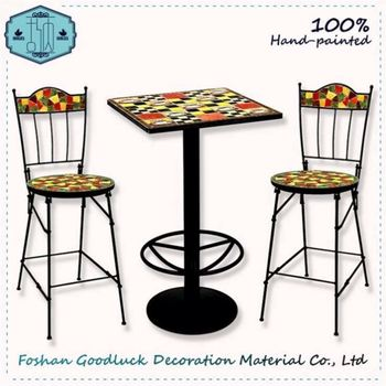 Hand Painted Bar Table Famous Chinese Company Top 10 Furniture Brands