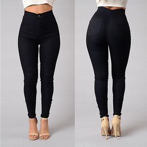 High Quality Fashion Woman Skinny Jeans Pants With High Waist Denim Pencil Pants Women Casual Trousers