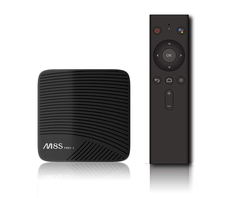 Mocei Mecool Voice Control M8S PRO L 3GB+16/32GB Android WiFi KODI Octa Core TV 4K Box US 3G + 32G