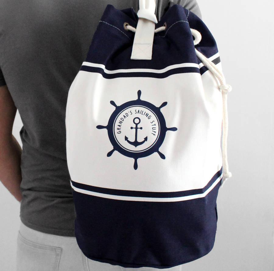 Personalised Sailing Canvas Duffel Bag Rope Beach Custom Product On Alibaba