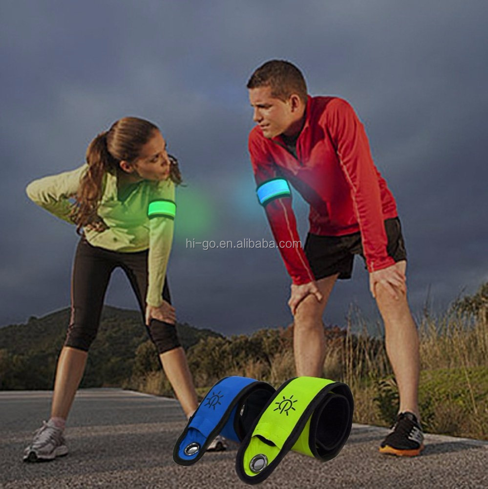 led running lights boys wrist bands running gear night