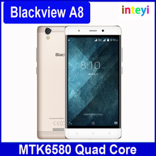 In Stock Original Blackview A8 Smartphone 3G Android 5.1 5.0inch IPS MTK6580A Quad Core 1GB+8GB 8MP Dual SIM Android Cellphone
