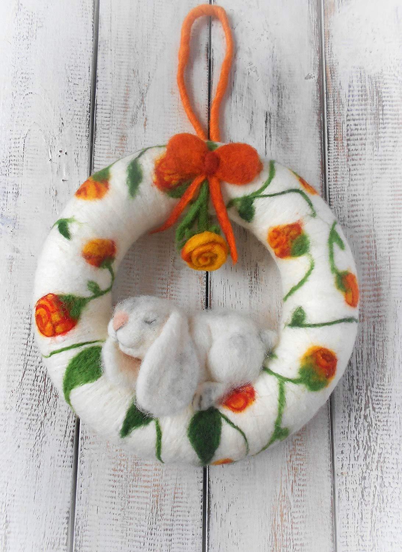 Get Quotations Bunny Wreath S Room Decor Spring Door Front