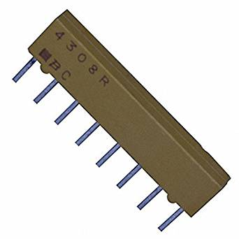 Resistor Networks & Arrays 330ohm 8Pin Isolated