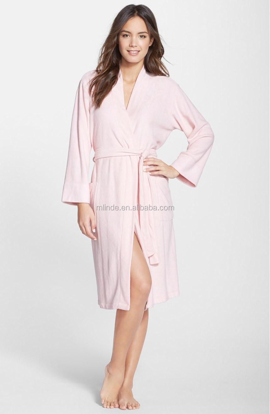 d01e7288fcc5 Robe Sexy Women s Turkish Cotton Spa Rope Terry Shawl Collar Midi Heated  Bathrobe With Tie Belt Pocket