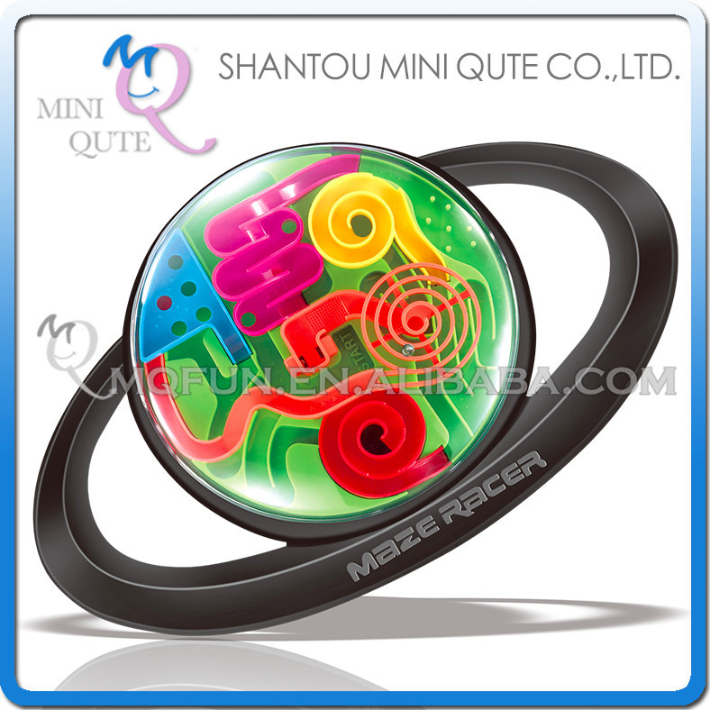 Mini Qute Handheld 3D labyrinth maze magical intellect ball kids balance training educational toy 3d puzzle game NO.965