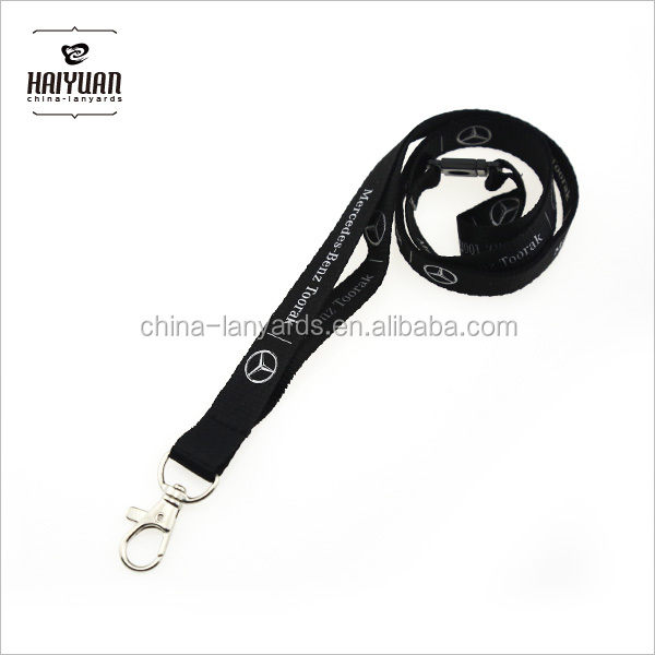 Mercedes-Benz Sublimation neck lanyard custom logo PVC card holder in red and white